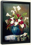 Callas with Cockscomb-FG-Canvas Art Print