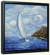 Windy Sailing-JM-Canvas Art Print
