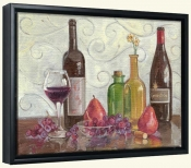 Wine Fruit and Coloful Vases-TK-Canvas Art Print