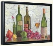 Grapes Wine and a Green Vase-TK-Canvas Art Print