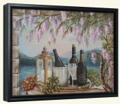 Wine and Wisteria-RB-Canvas Art Print