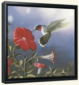 Ruby Throated Hummingbird   -Canvas Art Print