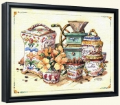 Antique Canisters   -Canvas Art Print