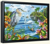Blue Heron and Friends   -Canvas Art Print