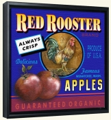 LS-Red Rooster Apples   -Canvas Art Print