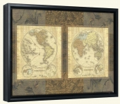 Terre Orbis East/West   -Canvas Art Print
