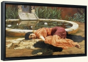 Dolce Far Neinte Pompeian Fishpond 1904   -Canvas Art Print