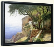 Pergola In Amalfi   -Canvas Art Print