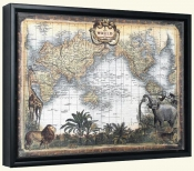 World Map   -Canvas Art Print
