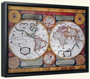 Antique Map Terre Universelle 1594   -Canvas Art Print