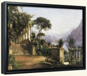 Lodge on Lake Como   -Canvas Art Print