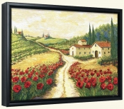 Red Poppy Road   -Canvas Art Print