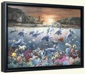 Dolphin Wonderland  -Canvas Art Print