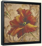 Poppy Damask II  -Canvas Art Print