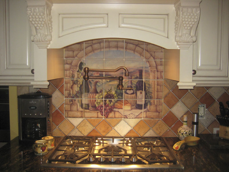 kitchen tile murals decorative tile backsplash kitchen tile ideas tuscan 3269