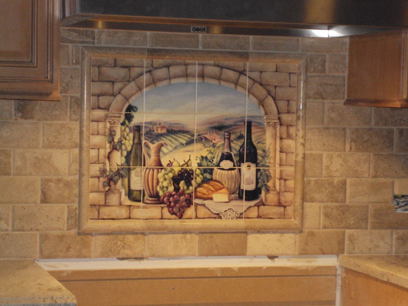 tile murals for kitchen decorative tile backsplash kitchen tile ideas tuscan 6172