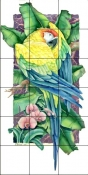 Paradise Macaw 1    - Tile Mural