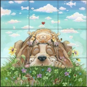 GP-Lazy Day AFternoon-Dog - Tile Mural