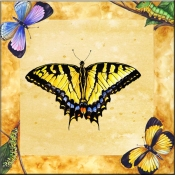 Eastern Swallowtail Butterfly with Background    - Tile Mural
