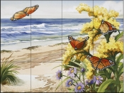 Fire Island Monarchs-NW - Tile Mural