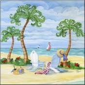 Whimsy Bay Adirondack Chairs - PB - Accent Tile