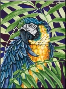 Blue and Yellow Macaw-DF - Tile Mural