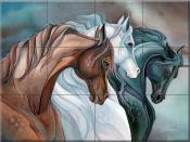 Sisters of the Wind Horses - JB - Tile Mural