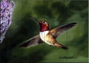 Hummingbird 2    - Tile Mural