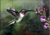 Hummingbird 3    - Tile Mural