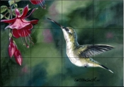 Hummingbird 4    - Tile Mural