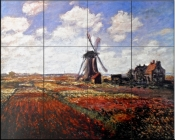 Tulips in Holland    - Tile Mural
